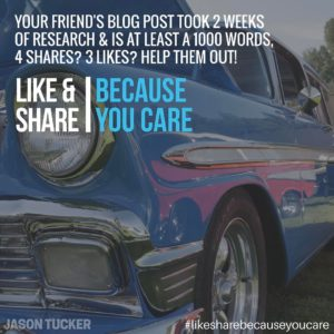 Like and Share Because you Care
